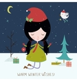 Winter holiday background or card vector image vector image