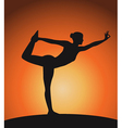 woman in triangle pose vector image vector image