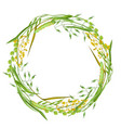 wreath with herbs and cereal grass floral design vector image vector image