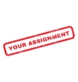 your assignment rubber stamp