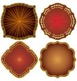 Ornate decorative golden frames vector image