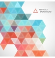 pattern of blue and red triangles vector image