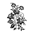 Elegance pattern with flowers narcissus vector image