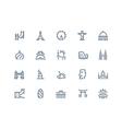 Landmarks icons Line series vector image