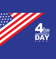 4th july independence day united state america vector image