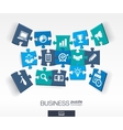 Abstract business background connected color vector image vector image