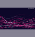 abstract dynamic waves and particles waves with vector image vector image