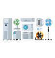 air conditioner heating and cooling household vector image