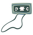 audio cassette with magnetic tape recording music vector image