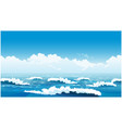 beautiful ocean waves vector image vector image