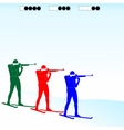 Biathlon competition vector image