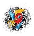 bird with grunge vector image vector image