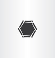 black hexagon frame icon sign vector image vector image