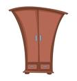 cartoon home furniture wardrobe vector image vector image