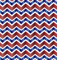 Chevron zig zag red white and blue vector image vector image