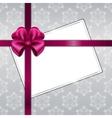 Christmas card with ribbon vector image
