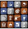 Coffee icons flat shadow set vector image vector image