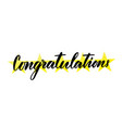 congratulations hand lettering greeting card with vector image
