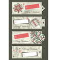 crumple christmas labels with place for text vector image