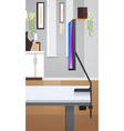 desktop computer monitor office workplace modern vector image vector image