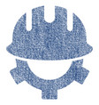 development helmet fabric textured icon vector image