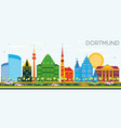 dortmund germany city skyline with color vector image vector image