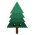 emoji sad spruce tree or color vector image vector image
