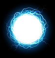 energy sphere electric plasma ball explosion vector image vector image