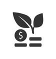 financial growth icon vector image vector image