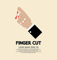 Fingers Cut With Knife vector image