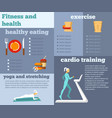 fitness and health flat infographic vector image