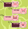 Four cute cartoon Pigs stickers vector image vector image