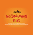 greeting card halloween design collection vector image vector image