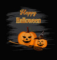 happy halloween backdrop vector image vector image