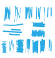 highlight marker lines vector image vector image