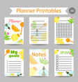 honey prinatables with flat honey elements notes vector image vector image