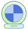 icons and symbols of car parts Safety dummy symbol vector image vector image