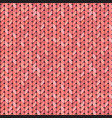knitting pattern knitted realistic vector image vector image