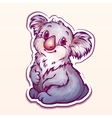 koala in cartoon style vector image vector image