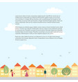 landscape with text place vector image vector image