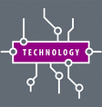 logo purple chip technology vector image vector image