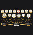 luxury gold and silver design elements collection vector image vector image