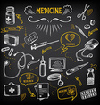 Medical icons sketch design Healthcare drawing vector image vector image