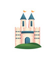 medieval royal castle with blue gate and roof vector image vector image