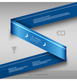Modern business ribbon Origami style banner design vector image