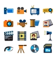 movie technology vector image vector image