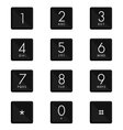 Numeric keypad set design on white background vector image vector image
