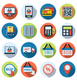 Online shopping flat icons vector image vector image
