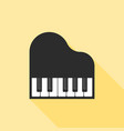 piano icon flat design with long shadow vector image vector image