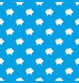 Piggy bank pattern seamless blue vector image